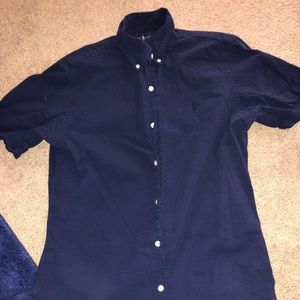 Ralph Lauren Navy Button Up SZ S
